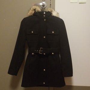 Black fancy winter coat